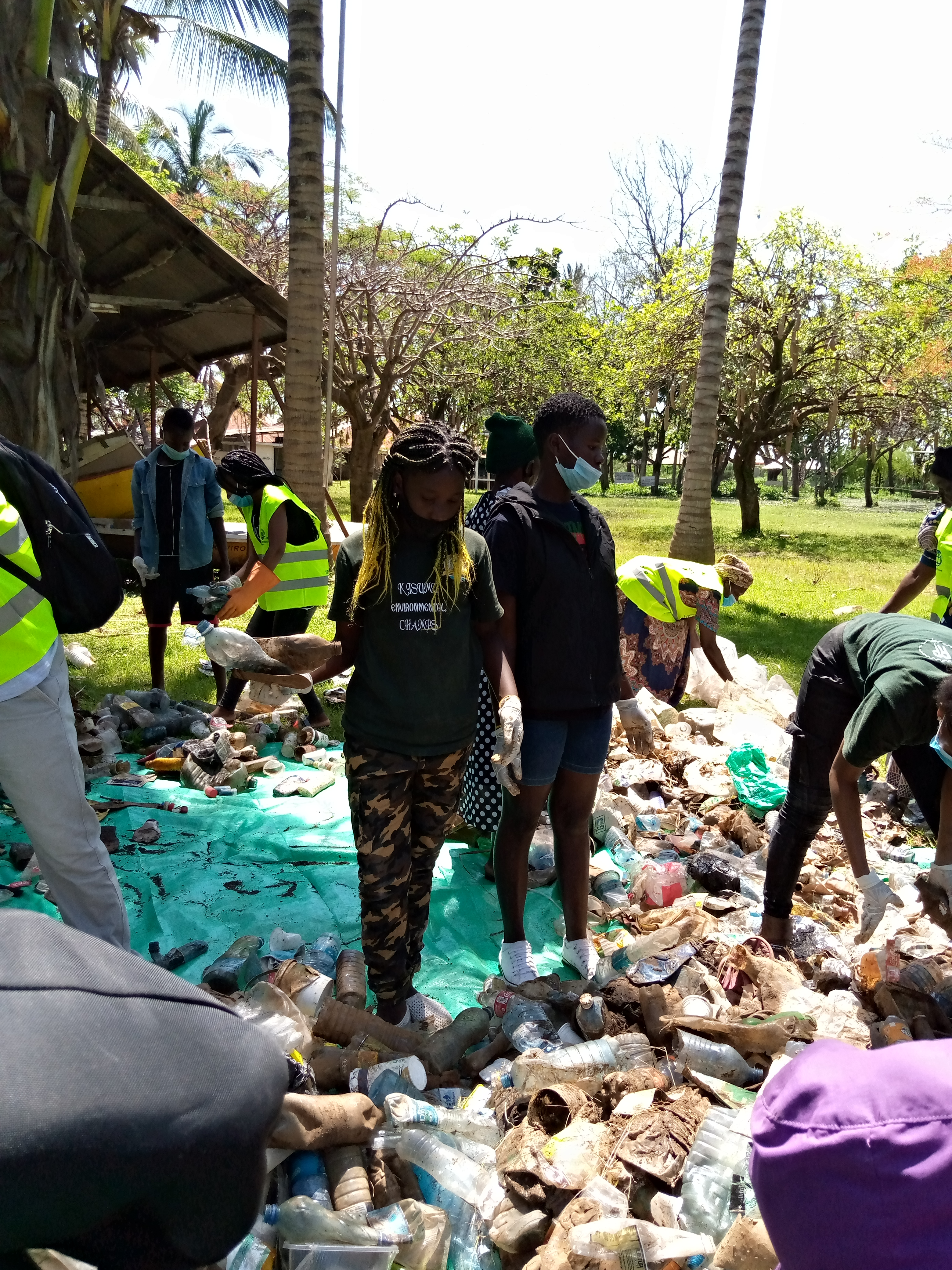 I usually organize clean ups and plastic collection then we sort sort the plastics and I collect some for recycling and others I give the recycling companies