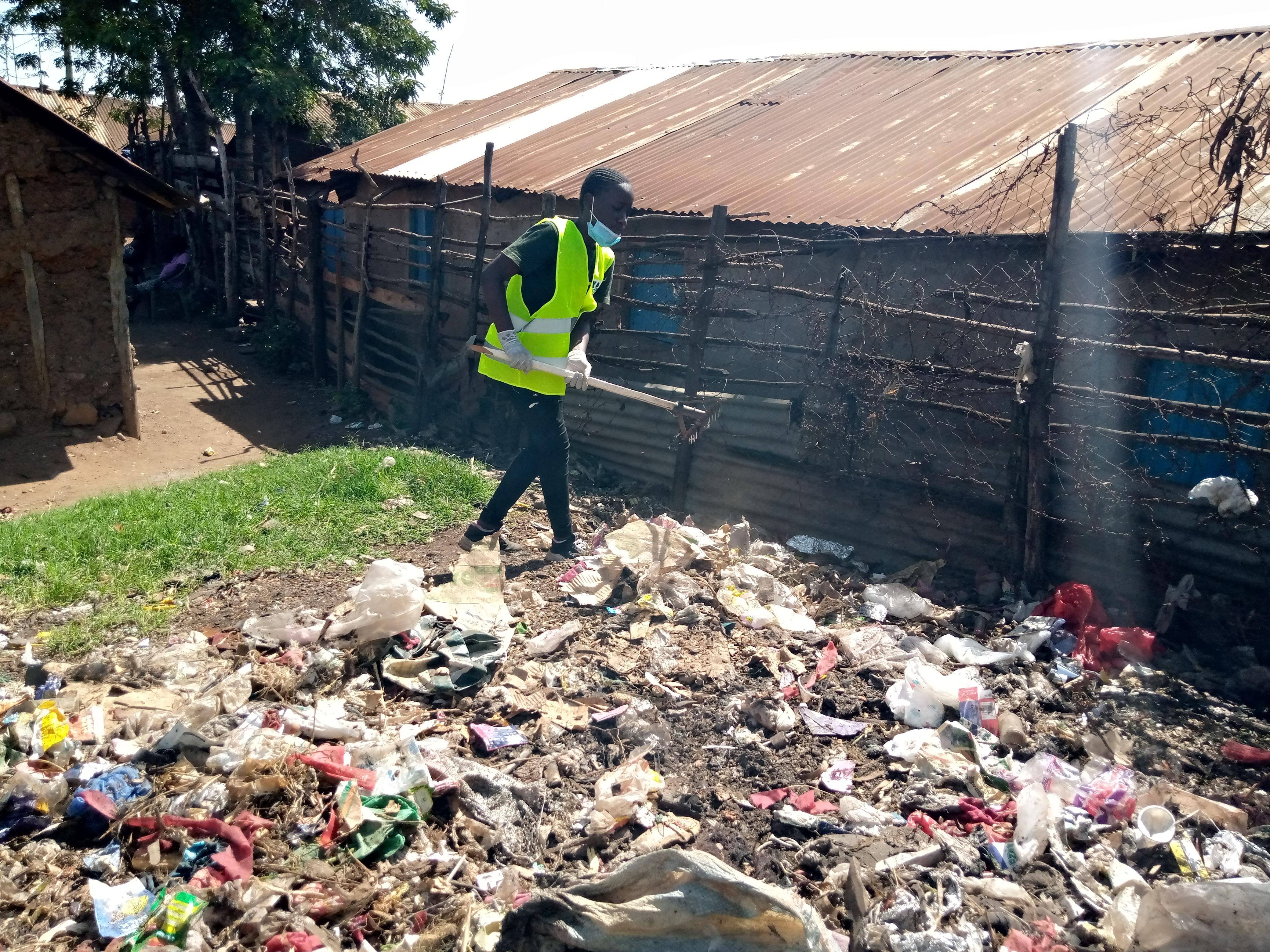 I organized clean up through the help of kenya manufacturers company by clearing the illegal dumping sites the
