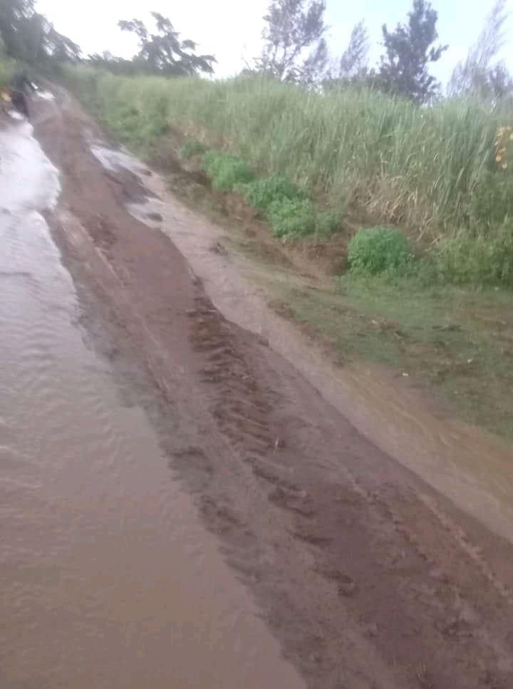 Poor roads in Busia