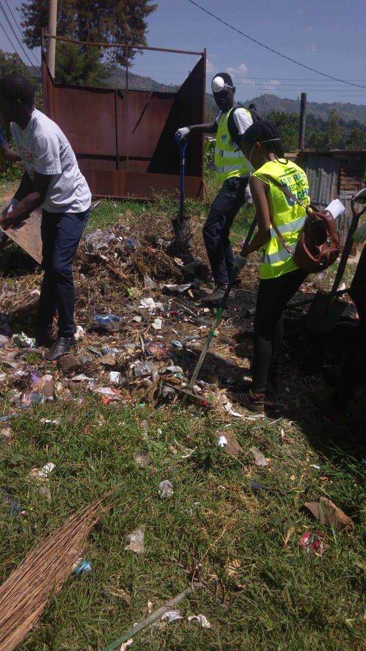 Improving Sanitation around the community..